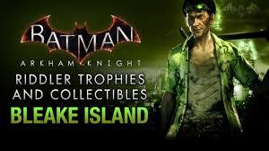 Batman: Arkham Knight - Riddler Trophies - Bleake Island - YouTube