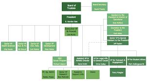 how to draw an organization chartorganizational chart   university leadership