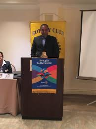 home page rotary club of nassau sunrise guest speaker at rcns morning meeting was mr romauld ferreira host of the early morning talk show at sunrise also an attorney at law and an
