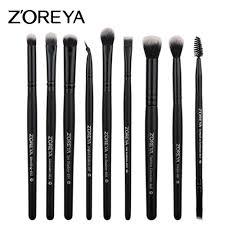 <b>ZOREYA 9pcs</b>/set <b>Makeup</b> Brushes Sets for Eye Powder Blending ...
