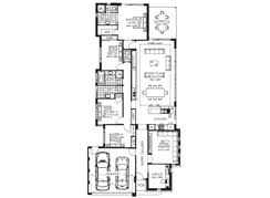 The Aurora   Narrow Block Homes Perth  Narrow Home Designs  Narrow    Floorplans