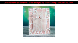 <b>YaMinSanNiO</b> Alphabets Cover Background <b>Metal</b> Cutting Dies for ...