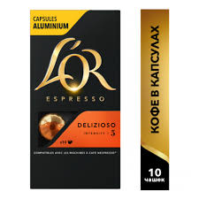 <b>Кофе в капсулах L'OR</b> Espresso Delizioso, 10 капсул для ...