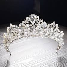 <b>Gorgeous Silver Crystal</b> Pearl <b>Bridal</b> Tiaras <b>Wedding</b> Hair ...