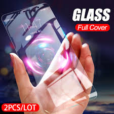 2pcs full tempered glass for xiaomi redmi note 8 7 pro screen protector 9h anti blu ray toughened glass