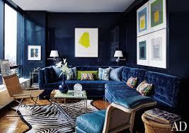 blue sofas living room: contemporary living room with blue sofa todd alexander romano new york