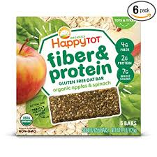 Happy Tot Organic Fiber & Protein Soft-Baked Oat ... - Amazon.com