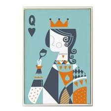 <b>Abstract Poker King and</b> Queen Playing Card Posters Canvas ...