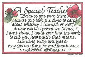 Special Quotes About Teachers. QuotesGram via Relatably.com