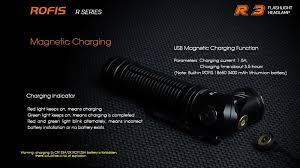 ROFIS R3 1250LM <b>USB Charging LED</b> Flashlight Adjustable ...
