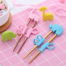 <b>2Pairs Children Chopsticks</b> For Kids Baby Staniless Steel Cartoon ...