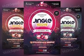 jingle night christmas psd flyer template christmas