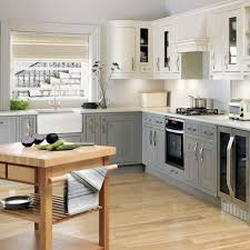 Gray And White Kitchen Designs Ideas Small Kitchen Design Brown Ceramic L Shape Kitchen Design