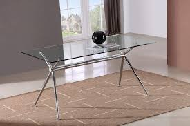 dining table glass top chrome