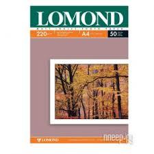 <b>Фотобумага Lomond A4</b> 220g/<b>m2</b> матовая двусторонняя 50 ...