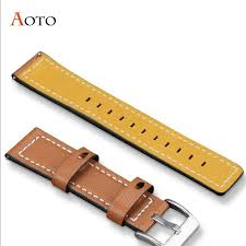 20mm /22mm <b>Leather</b> Strap For SAMSUNG Galaxy watch 46mm ...