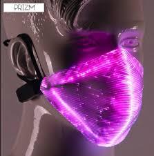 7 Vibrant Colors Manual Control Pulse Illuminated <b>LED Rave Mask</b> ...