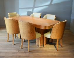 oval dining table art deco: art deco burr walnut dining table amp chairs