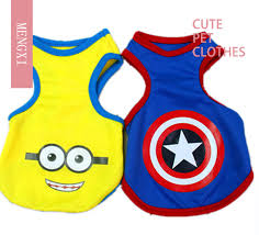 <b>Free Shipping Pet Clothes</b> Captain America Dog Clothes Summer ...