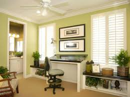 light green home office with ample natural light natural lighting home office