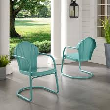 <b>Retro Metal</b> Patio Chairs | Wayfair