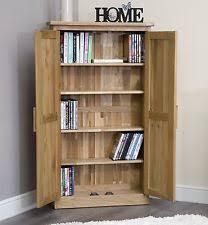 arden solid oak cd dvd rack cupboard cabinet storage furniture mobel solid oak dvd