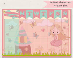 chore chart fairy reward chart girls jobs fairy garden routine 128270zoom