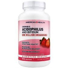 <b>Chewable Acidophilus</b> & <b>Bifidum</b>, American Health