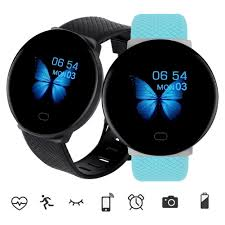 <b>D19 smart watch</b> IP67 waterproof heart rate monitor blood pressure ...