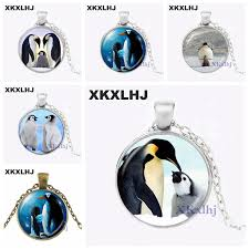 <b>XKXLHJ</b> Black and White Penguin <b>Mother</b> and Baby Photo Necklace ...