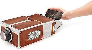 Portable DIY <b>Cardboard</b> Smart Phone Projector <b>Cinema</b> Mini