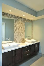 lighting over bathroom mirror modern bathroom interior with double square floating mirror on gray glass mosaic above mirror lighting bathrooms