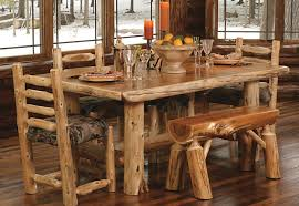 chair dining room tables rustic chairs: timberland dining table drt log dining group timberland dining table