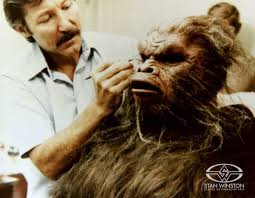 lance anderson applies hair to his make up designs inc creation for the film stan winston step step party