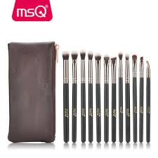 12pcs bag professional eyeshadow makeup brushes with pu case cosmetic tools kit eyelash eyebrow lip blush