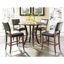 furniture cameron parson pc dining hillsdale cameron round wood with metal ring counter height dining tab