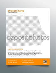 business flyer template stylish orange design stock vector creative business flyer template simple contemporary clean design in orange 8 5x11 inches layout vector by mischoko