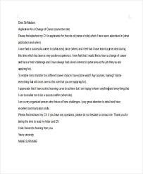career change application cover letter changing careers cover letter