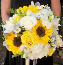 <b>Yellow</b> gray and <b>white</b> wedding. <b>Sunflowers</b> hydrangea <b>roses</b> ...