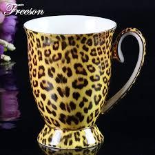 Костяной фарфор кофейная <b>кружка</b> леопардовая Тигровая ...