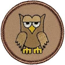 <b>Cartoon Owl</b> Patrol <b>Patch</b> (custom)