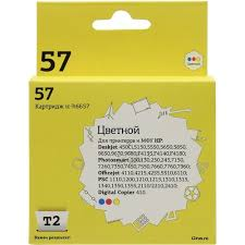 <b>Картридж T2 ic-h6657</b> Голубой (Cyan) + Желтый (Yellow) + ...