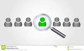 magnifying glass searching people job search conc royalty magnifying glass searching people job search conc