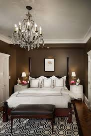 dark brown theme and elegant bed furniture sets in small master bedroom interior decorating design ideas bedroom design ideas dark