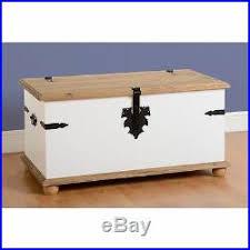 corona <b>mexican</b> distressed waxed pine single <b>storage chest</b>