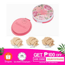 <b>Farm Stay Pink Flower</b> Blooming Uv Pact With REFILL | Shopee ...