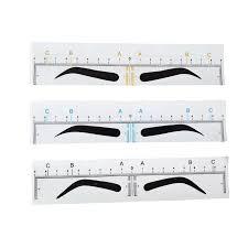 <b>10pcs Disposable Microblading</b> Eyebrow Ruler Sticker Permanent ...