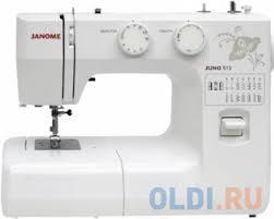 Швейная машина <b>Janome Juno 513 белый</b>/цветы — купить по ...