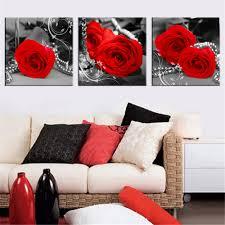 <b>Home</b> Decor Romantic Red Rose Flowers <b>Stones</b> Canvas <b>Prints</b> ...