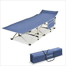 Purenity Stable Camping Cot Portable Folding Beach ... - Amazon.com